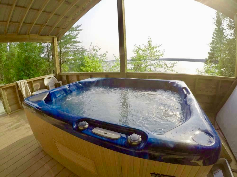 Our Hot tub & Sauna Cabin
